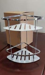 全新不銹鋼儲物三角架 廁所 廚房