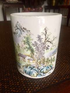 Vintage Porcelain Brush Pot