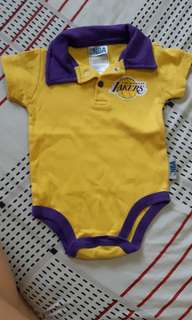 Lakers baby onesie