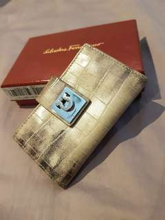 Authentic Salvatore Ferragamo 6 Rings Key Holder
