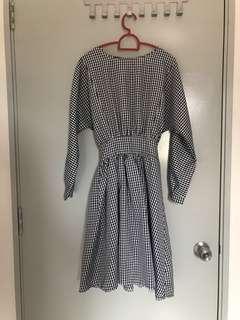 Vintage Black&White Grid dress
