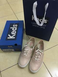 Keds champion linen rose gold