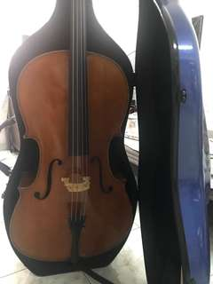 Cello with hard case and jagar strings