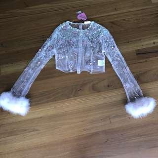 Dyspnea Fluffy Fur Crop Top