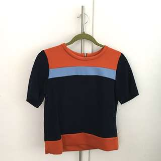 ZARA Colourblock top