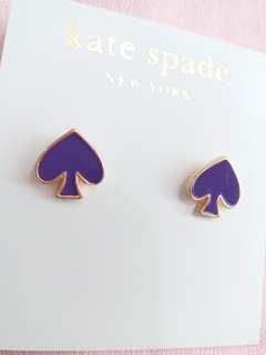 Kate Spade 紫色葵花耳環