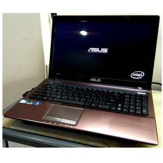 極新 ASUS A53S 15.6吋LED usb3.0 雙核心獨顯遊戲機 筆記型電腦