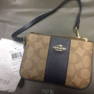 Coach Wristlet F52860 Khaki Blue Like New #rayaletgo