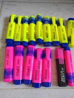 螢光筆每支$5