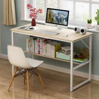 Simple Computer Table with Rack Underneath
