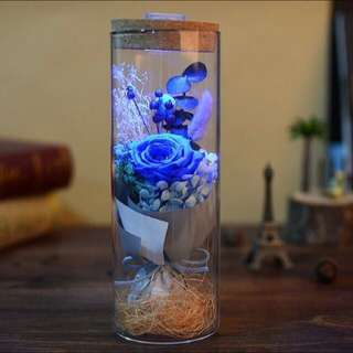 Preserved Roses with Remote Control LED Lights