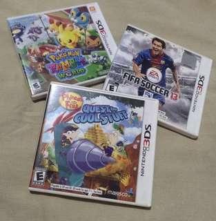 Bundled Nintendo 3ds games