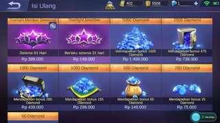 Diamond mobile legend murah