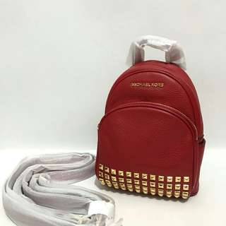 Michael Kors Abbey Backpack/ Crossbody size Extra Small Red