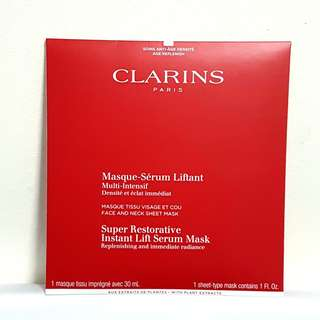 【SOLD OUT】CLARINS Super Restorative Instant Lift Serum Mask (Replenishing and Immediate Radiance) 30ml (1pc)