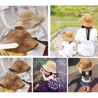 夏日手工親子編織草帽(預購)