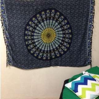 mandala sarong - blue