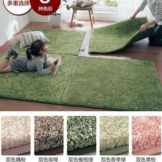 日式榻榻米加厚拼接地毯防滑門墊地墊  40*40CM HK$38一塊雙色香綠色雙色橄欖綠