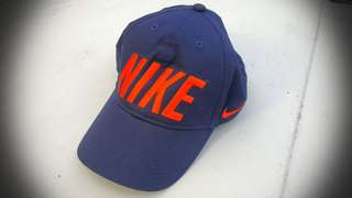 FREE POST Nike Navy Blue & Orange Cap 100% cotton