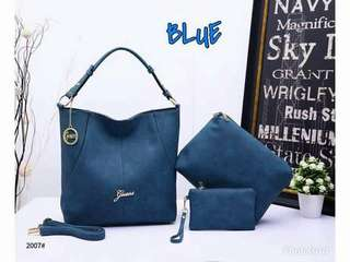 Guess 3 in 1 Bags Blue Color