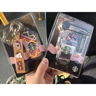 Starbucks Summer Keychain Pin + Card