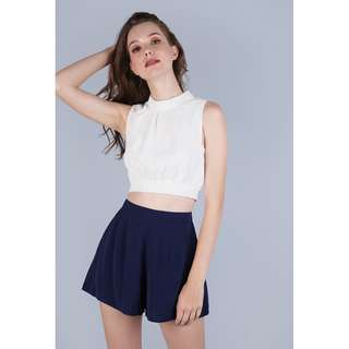 TTR sophie cropped top white