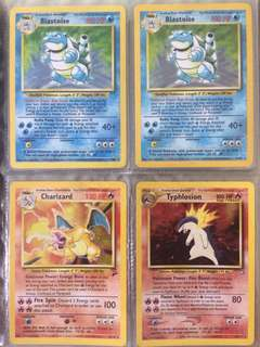 Vintage Rare Pokemon cards including a Base Set 2 Charizard