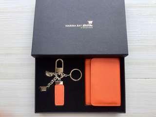 Marina Bay Sands Souvenir Key Chain and pouch