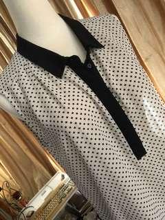 🚚 H&M 無袖長襯衫 洋裝 長85cm