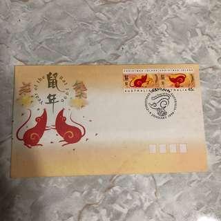 1996年鼠年郵票 紀念首日封 (澳洲版)
