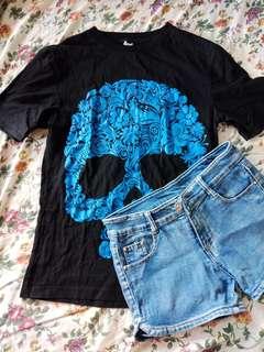 Skull shirt and Shorts