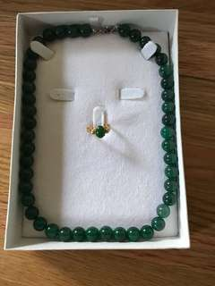 Jade Necklace and ring