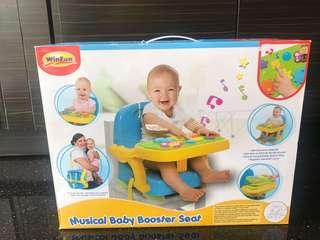 Winfun Musical Booster Seat (tempat duduk bayi) (kursi bayi)