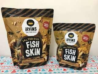 Irvins 鹹蛋魚皮 (大) Salted Egg Fish Skin (Big)