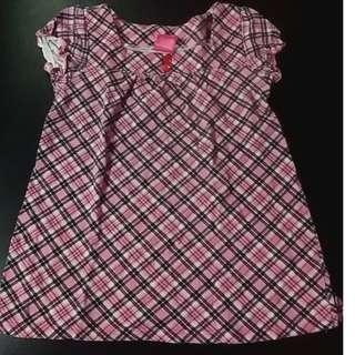 Pink Checkered Dress size 3