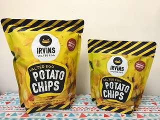 Irvins 鹹蛋薯片(細) Salted Egg Potato Chips (S)