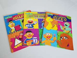Sesame street wipe clean activity books