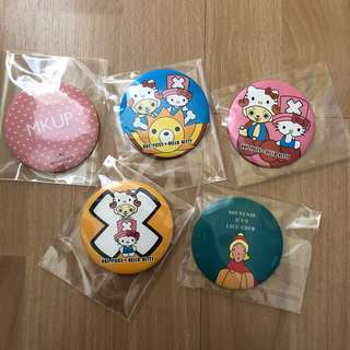 Pocket mirrors - hello kitty x one piece