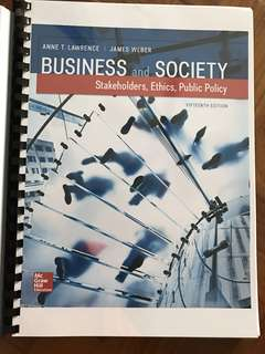 Business and Society (BGS) 15th Edition