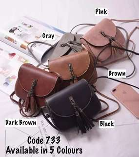 Messenger Bag with Tassel