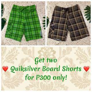 SALE!!! Quiksilver Board Shorts
