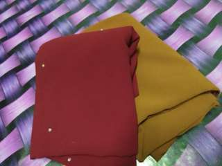 Shawl maroon and coklat