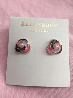 Kate Spade 彩色花花耳環