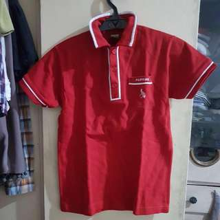 Collezione Girl's Red Polo Shirt Size 14