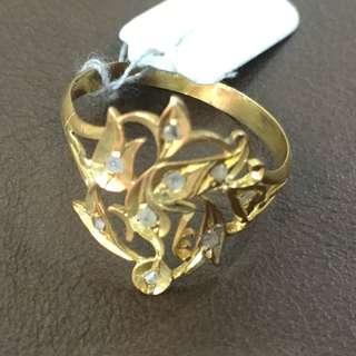 Nyonya rough cut Diamond Intan ring of bird
