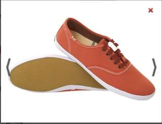 Keds canvas shoes coral