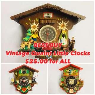 BEST BUY - Assorted Quaint Little Clocks