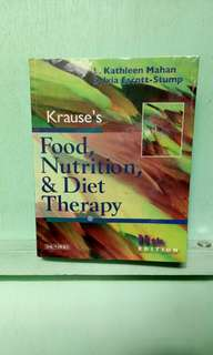 Krause's Food, Nutrition and Diet Therapy 11th edition