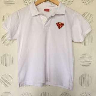 SUPERMAN WHITE POLOSHIRT 7 YEARS OLD