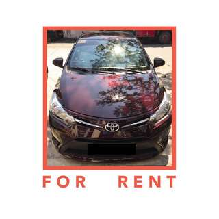 For Rent: Toyota Vios